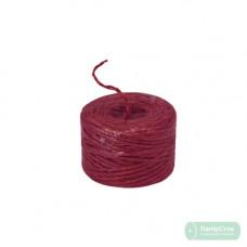 Шпагат джутовый малиновый/красный 45м