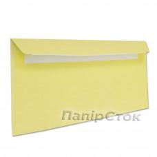 Конверт Е65 (0+0) СКЛ жёлтые (размер:110 х 220 мм.) (50 шт./уп.)
