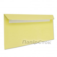 Конверт Е65 (0+0) СКЛ жёлтые (размер:110 х 220 мм.) (50 шт./уп.) - image