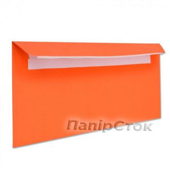 Конверт Е65 (0 + 0) СКЛ оранжевый (размер: 110 х 220 мм.) (50 шт./уп.)