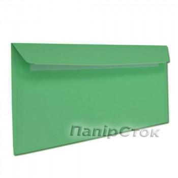 Конверт Е65 (0 + 0) СКЛ зеленые (размер: 110 х 220 мм.) (50 шт./уп.)