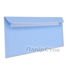 Конверт Е65 (0 + 0) СКЛ синие (размер: 110 х 220 мм.) (50 шт./уп.) - image