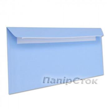 Конверт Е65 (0 + 0) СКЛ синие (размер: 110 х 220 мм.) (50 шт./уп.)