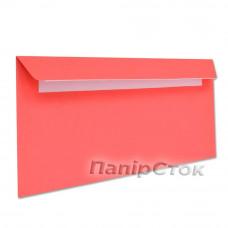 Конверт Е65 (0+0) СКЛ червоні (розмір:110 х 220 мм.) (50 шт./уп.)