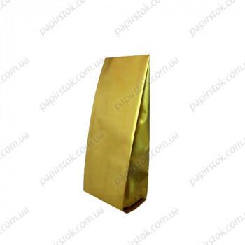 Дой-пак золото 65х200х20 с центральным швом