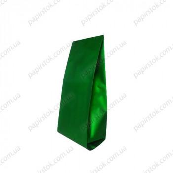Дой-пак зеленый 65х200х20 с центральным швом