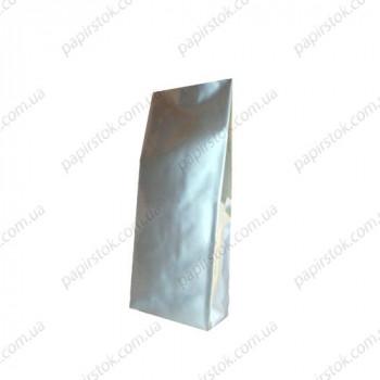 Дой-пак серебро 65х200х20 с центральным швом