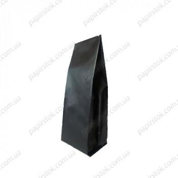 Дой-пак черный 65х200х20 с центральным швом