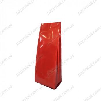 Дой-пак красный 65х200х20 с центральным швом