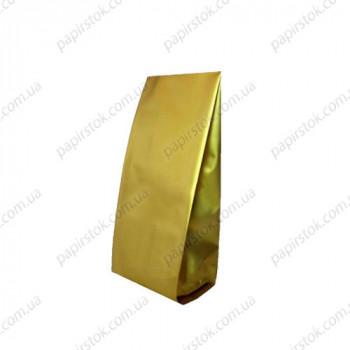 Дой-пак золото 80х250х32 с центральным швом