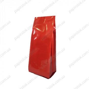 Дой-пак красный глянец 80х250х32 с центральным швом