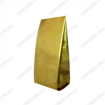 Дой-пак золото 90х320х30 с центральным швом