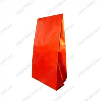 Дой-пак красный матовый 90х320х30 с центральным швом
