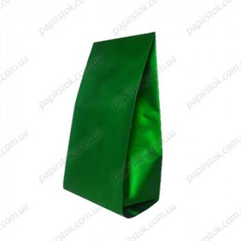 Дой-пак зеленый 135х360х35 с центральным швом