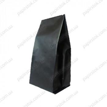 Дой-пак черный 135х360х35 с центральным швом