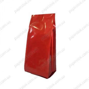 Дой-пак красный глянец 135х360х35 с центральным швом