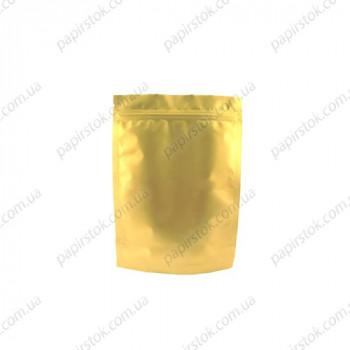 Дой-пак золото 100х170х30 зип, насечки