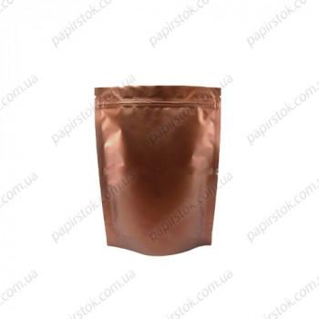 Дой-пак бронзовый 100х170х30 зип, насечки