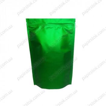 Дой-пак зеленый 140х240х45 зип, насечки