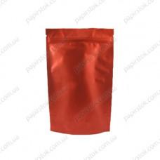 Дой-пак красный матовый 140х240х45 зип, насечки - image