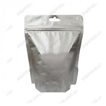 Дой-пак серебро 160х170х45 зип, насечки, европодвес