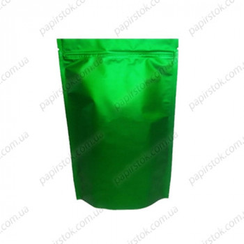 Дой-пак зелений 180х280х40 зіп, насічки