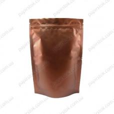 Дой-пак бронзовый 180х280х40 зип, насечки