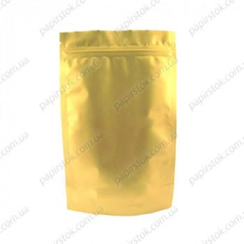Дой-пак золото 210х380х55 зип, насечки