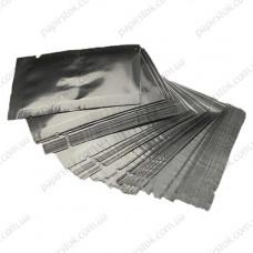 Дой-пак саше для пробников серебро 130х130 с насечками - image