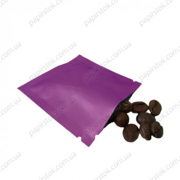 Дой-пак саше для пробников фиолетовый 70х70 с насечками