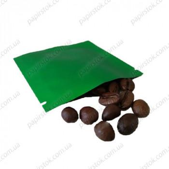 Дой-пак саше для пробников зеленый 70х70 с насечками