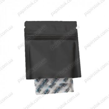 Дой-пак саше для пробников черный 60х80 открытый низ