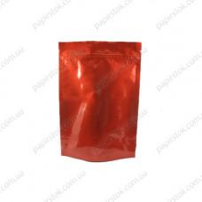 Дой-пак красный глянец 130х200х32 зип, насечки