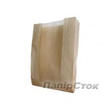 Пакет коричневый 140х50х240 окном