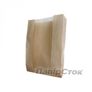 Пакет коричневый 140х50х240 с окном