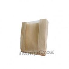 Пакет коричневий 100х40х150 вікно не перф. ( імпорт) - image