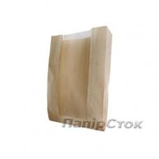 Пакет коричневый 100х40х230/50 окно не перф. - image