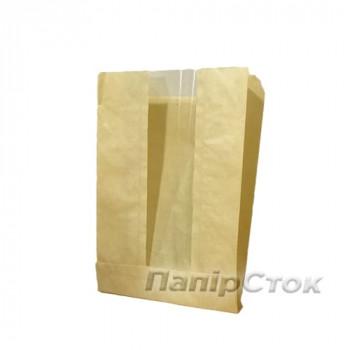 Пакет коричневый 140х60х210 окно 50 мм