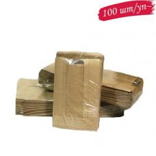 Пакет коричневый 100х40х150 окно не перф. (100 шт./уп.)