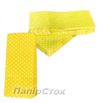 Пакет 90х60х210 желтый Горохи