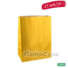 Пакет 190х115х280 жовтий (25 шт./уп.)