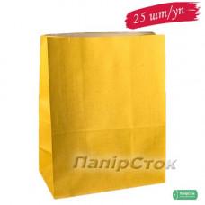 Пакет 280х130х380 желтый (25 шт./уп.)