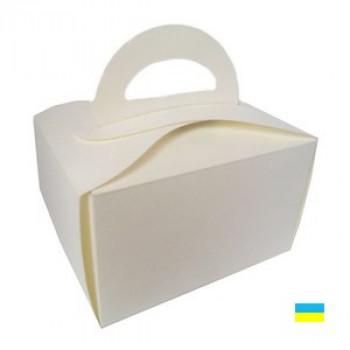 Коробка для пирожных белая 150х110х95