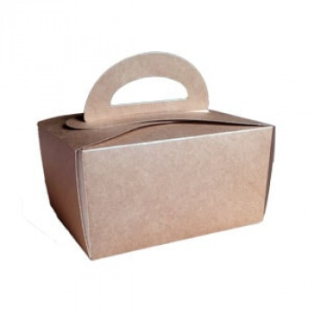 Коробка для пирожных коричневая 150х110х95