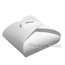 Коробка для торта белая 230х230х80 - image