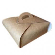Коробка для торта коричневая 230х230х80