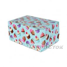 Коробка 180х120х80 цветн. кексы - image