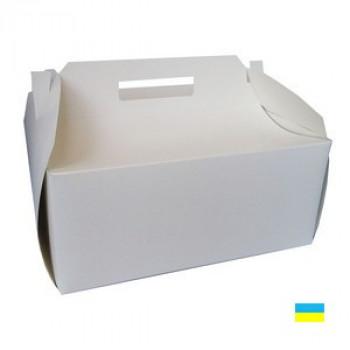 Коробка Торт белая 300х300х125