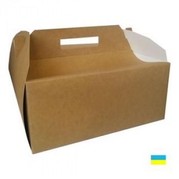 Коробка Торт крафт 300х300х125