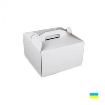 Коробка тортовая 242х145х175 микрогофр. картон 2 ч.